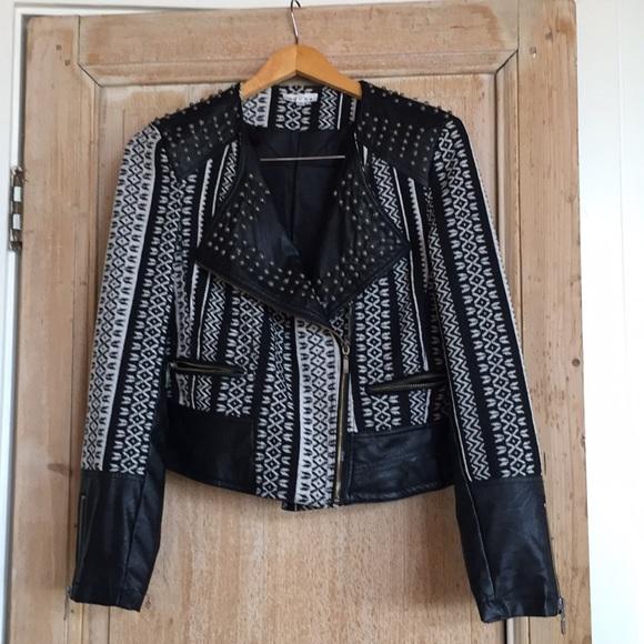 b849f7df7e74 Adore Jackets   Blazers - Moto jacket from Adore. Black ivory Multi texture
